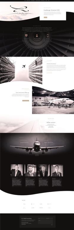 Landing Page Landscape Aviation