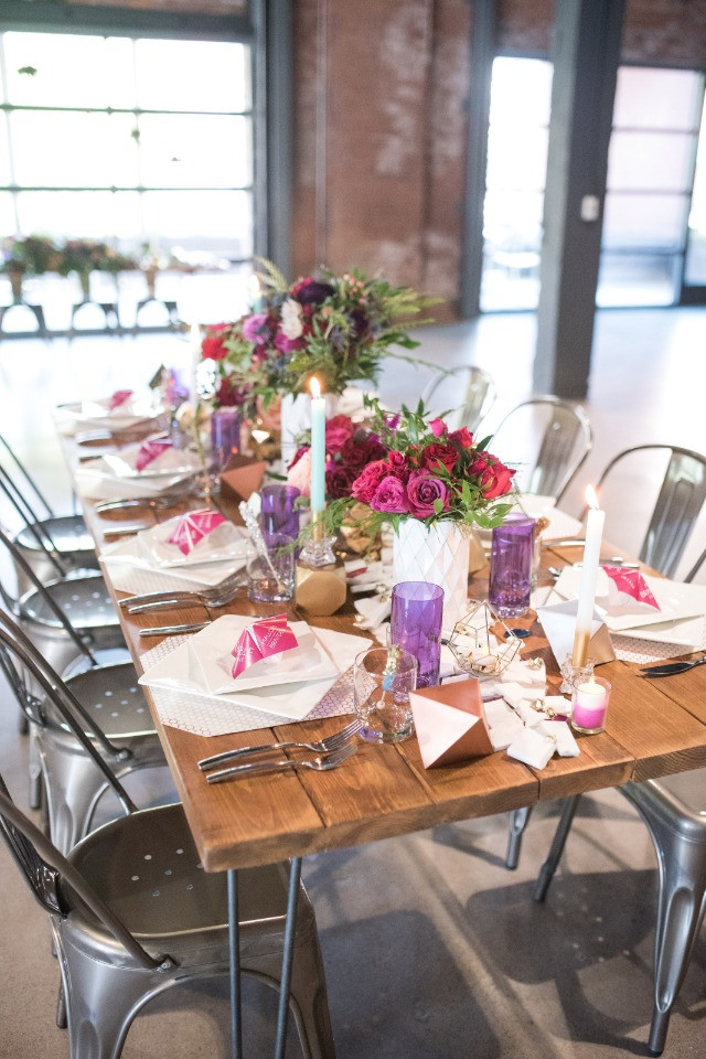 Contemporary Wedding Decor