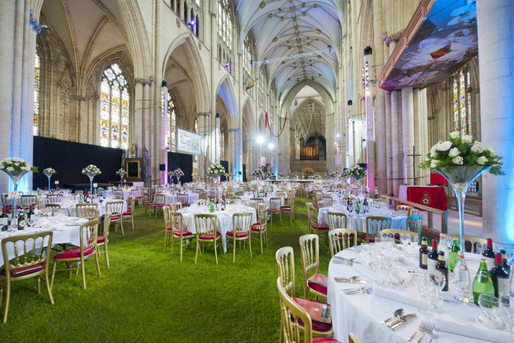 Grass Indoors at Wedding