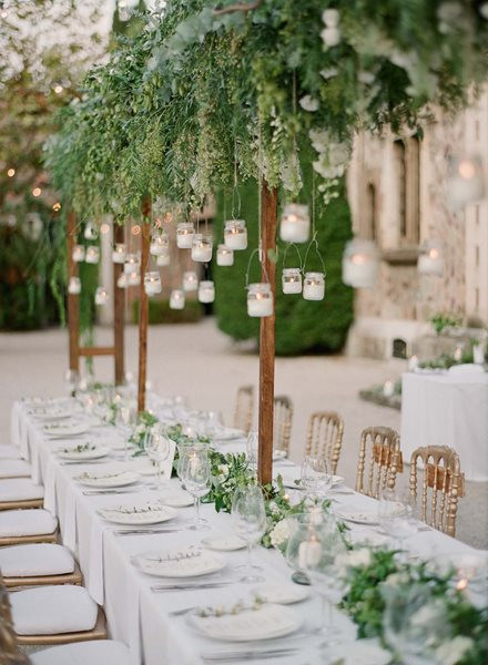 Wedding Table with Hanging Lanterns