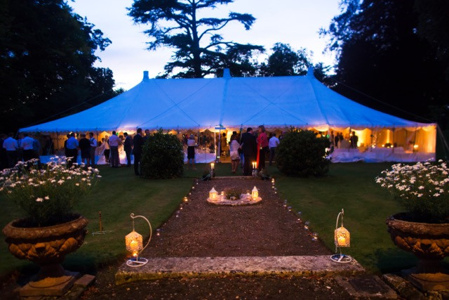 planning a marquee reception