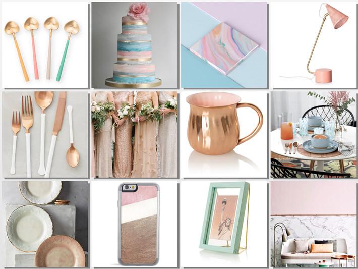 inspiration; pastels & metallics