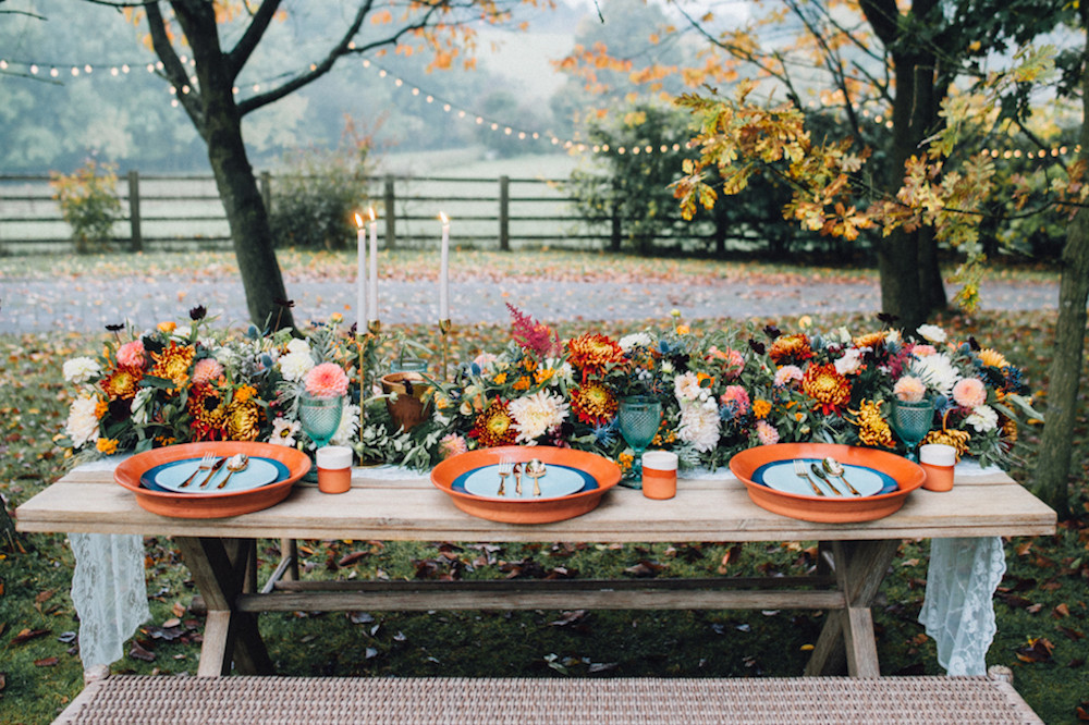 Wedding Table - terracotta colours