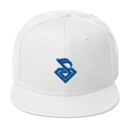 White Diamond Snapback Hat