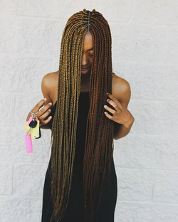 Two Toned Freestyle Braids