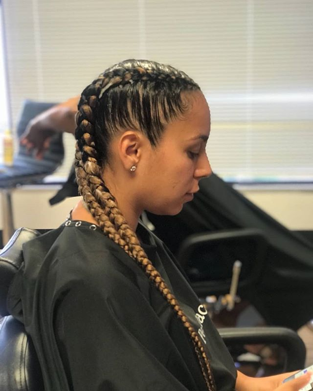 Feed-In Cornrows