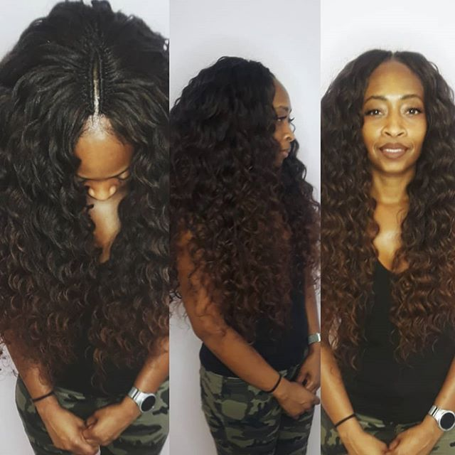 Crochet Braids w Loose Hair