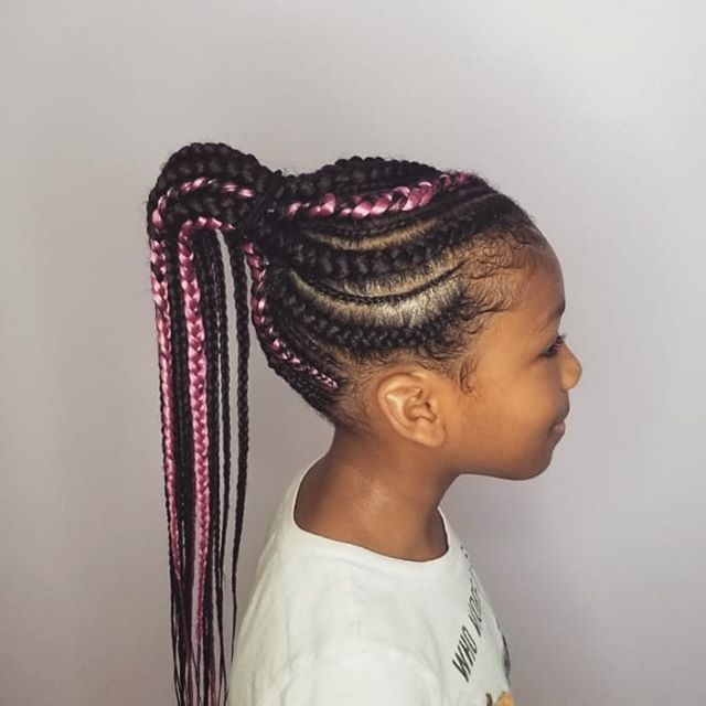 Kids cornrow Ponytail