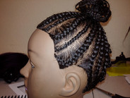 Training - Large and Small Cornrows Ponytail