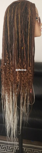 Fashion Braids and Faux Locs ombre wig