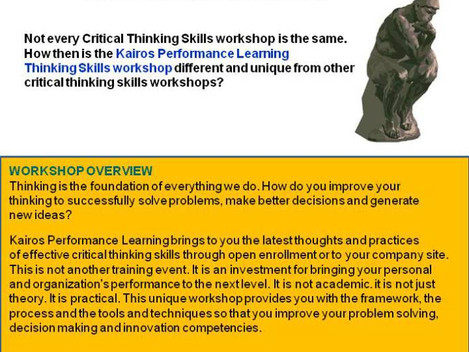 The Critical Thinking Skills workshop that makes the DIFFERENCE