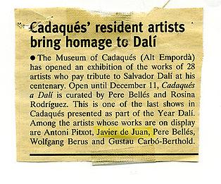 Prensa 2004 Any Dalí a Cadaqués