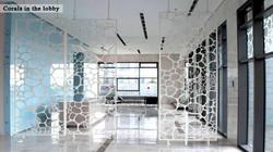 Lobby of the Bonei Hatihon Building.