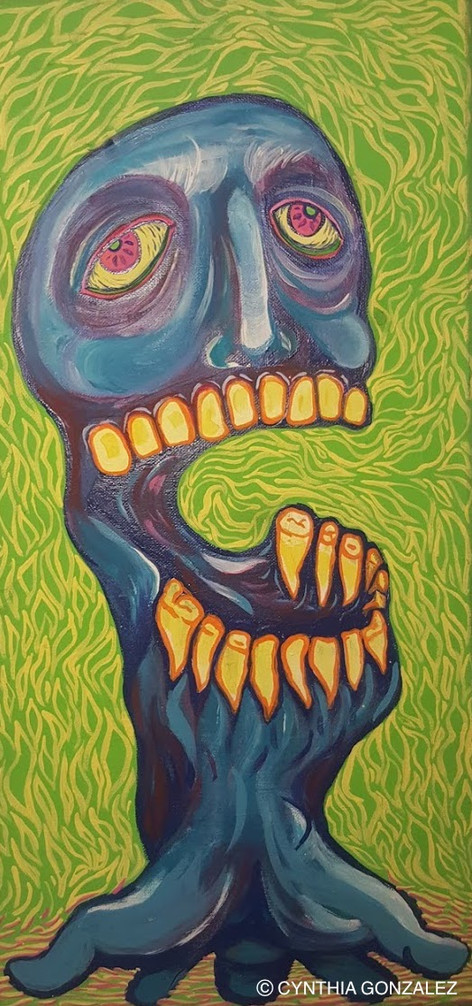 Gary Busey, 2015, Acrylic on canvas, 24in x 12in