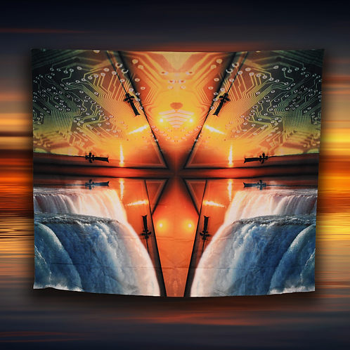 Circuit Sunset Tapestry