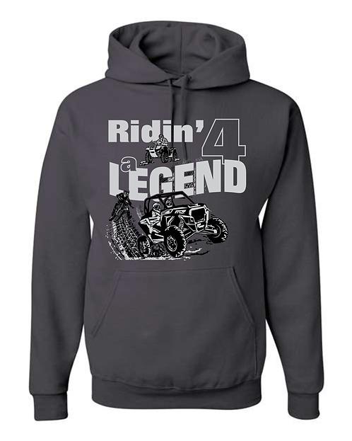 RIDIN' 4 A LEGEND Core Fleece Pullover Hooded Sweatshirt