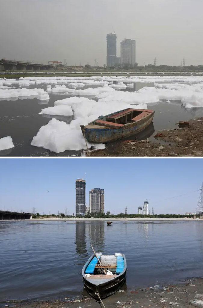 Yamuna River in quarantine