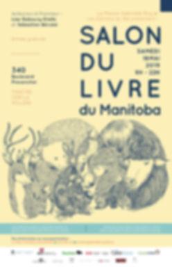 Affiche salon du livre du Manitoba mai 2