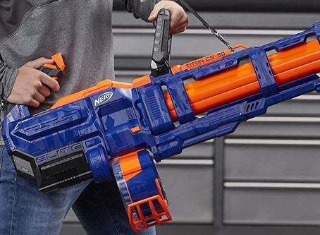 Nerf Elite Titan CS-50: massive, motorized monster blaster