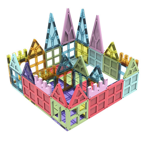 Magnetic Blocks-Super House! Magnetic Building Tiles for Boys & Girls 3 4 5 6 7