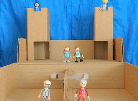 Yourbox2 cardboard house for toys: developing creative thinking