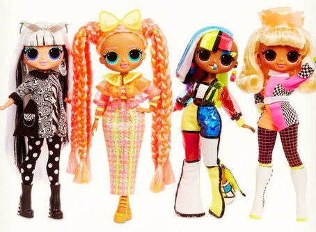 LOL OMG Lights and LOL Surprise Lights Glitter dolls: 2020 novelties