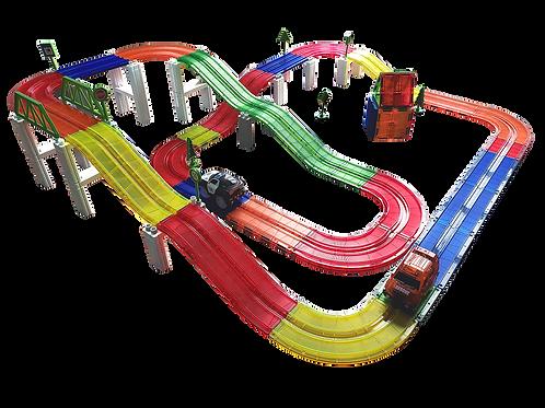 100 Piece Race Car Track Building Block Educational Toy Set