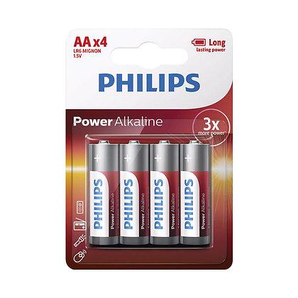 סט 4 סוללות Philips AA