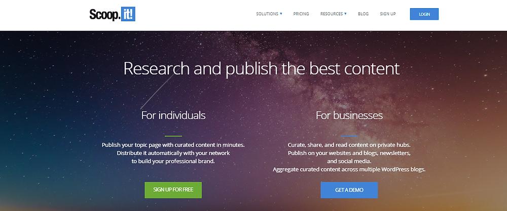 scoop.it content distribution tool