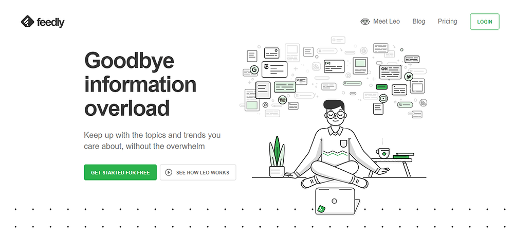 Feedly tool content inspiration filtration