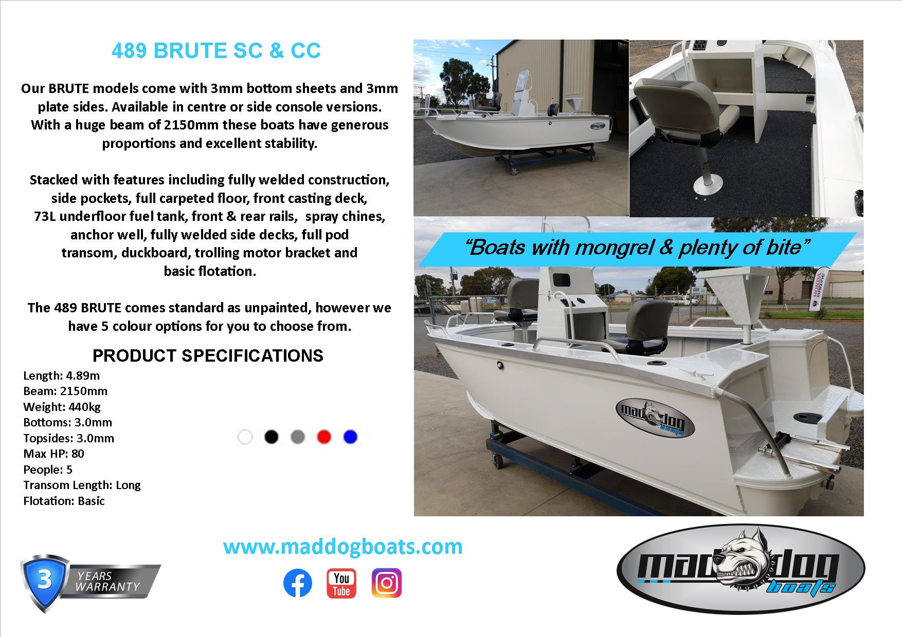 489 BRUTE | Mad Dog Boats