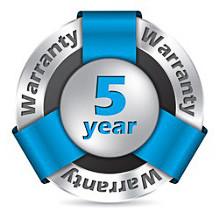 New 5 Year Warranty
