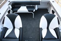 Bluefin bowrider rear folding lounge