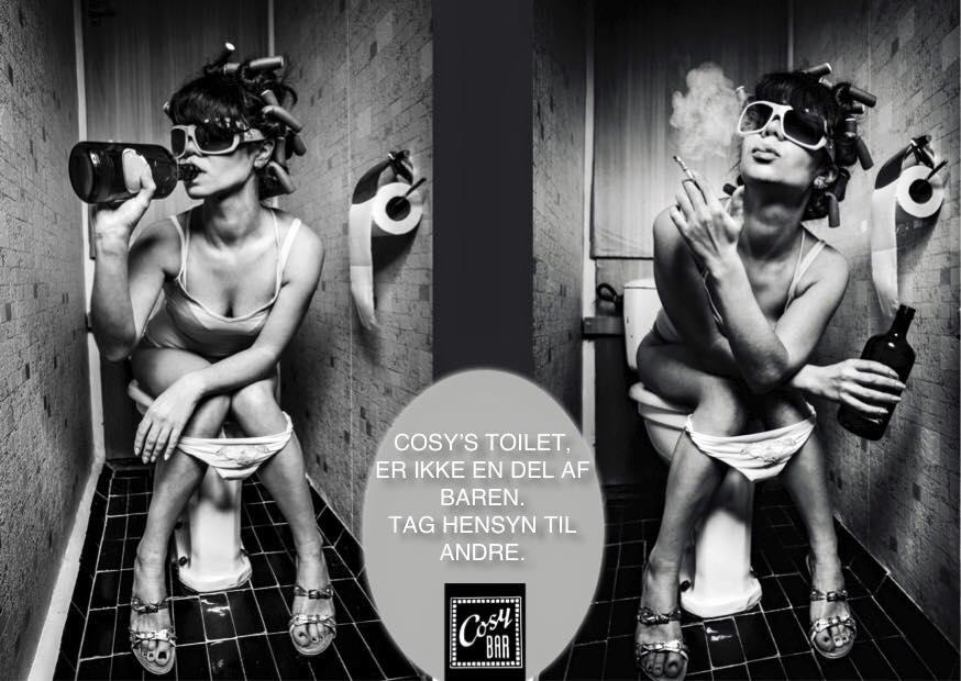 Toiletskiltet med et klart budskab