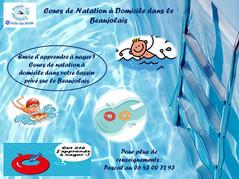 Cours de Natation à domicile en Beaujolais
