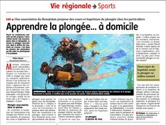 Plongée-sous-Marine à domicile en Beaujolais !