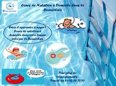 Cours de Natation à Domicile dans le Beaujolais !
