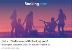 10% Supplémentaire chez Booking !