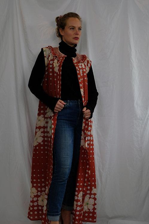 Cotton sleeveless housecoat
