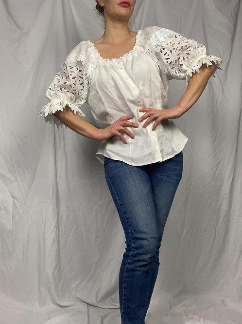 White Linen Puff Sleeve shirt