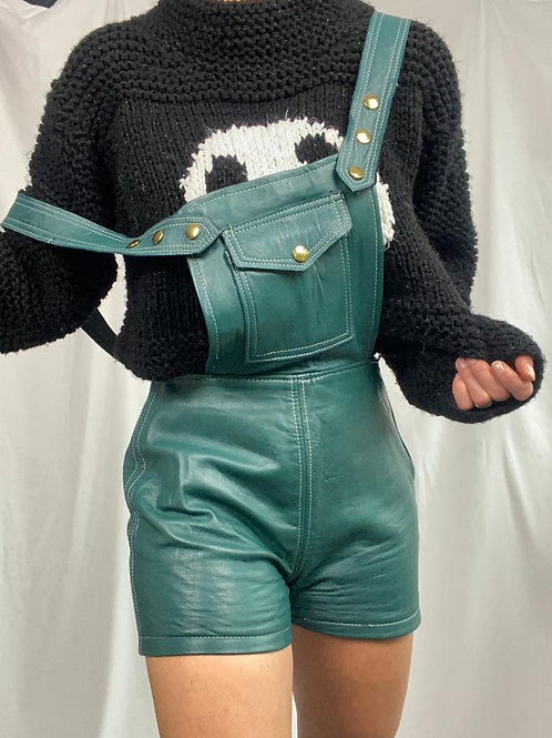 Leather short Dungarees
