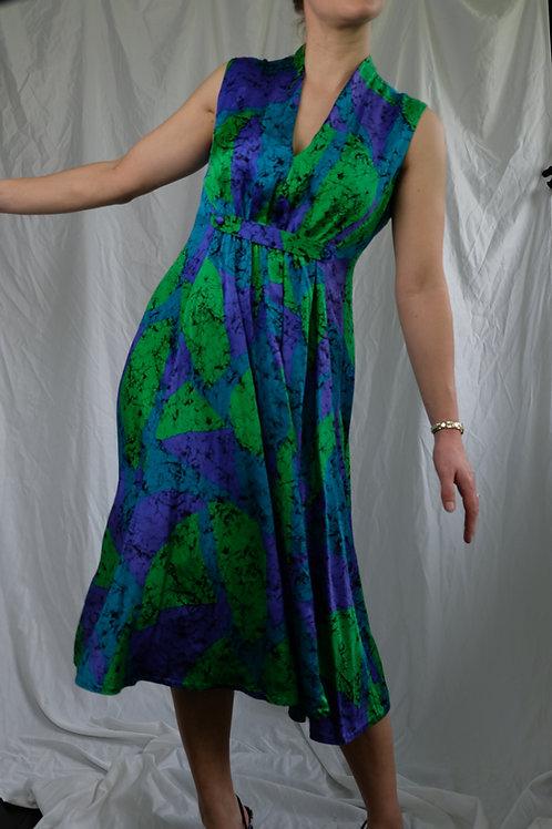 70's Handmade Silk dress
