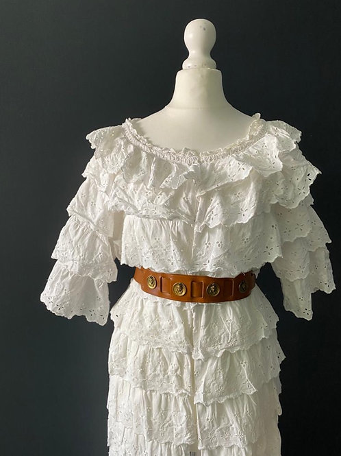 1950's Broderie Anglaise House coat