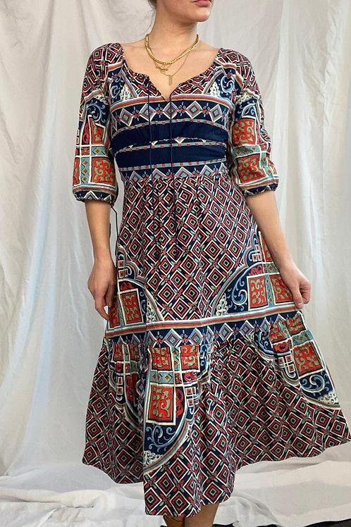 Sal Kay printed midi dress