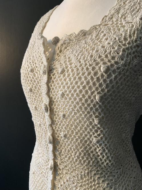 Delightful 70's crochet midi dress