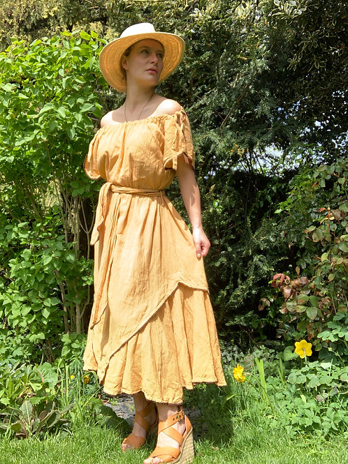 70s cheesecloth dress