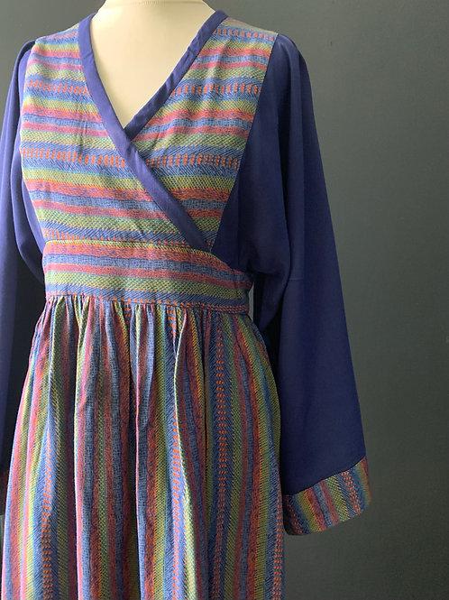 70s Midi dress with huge sleeves