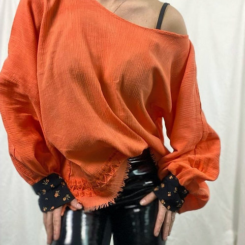 Hand stitched vintage Scarf top