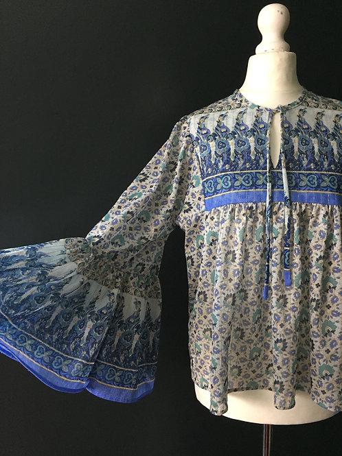 1970's metallic hippy fan sleeve top