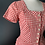 Thumbnail: Red & white check cotton fit and flare dress with peplum